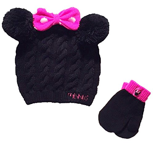 Minnie Mouse Baby Girls Toddler Winter Hat & Mitten Set