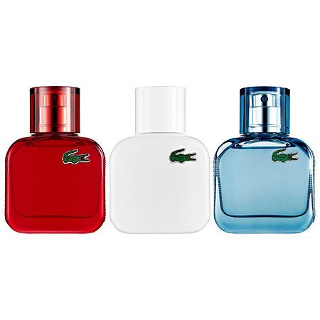 Lacoste Eau De Lacoste L.12.12 Fragrance Collection for Men, 3 Count