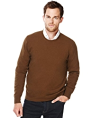 XS Blue Harbour Luxury Wool Rich Crew Neck Jumper with Cashmere