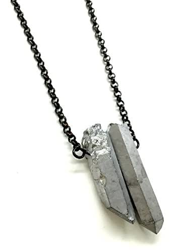 cool mens necklace with silver handmade