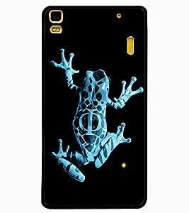 ColourCraft Rare Breed Frog Design Back Case Cover for LENOVO A7000 PLUS
