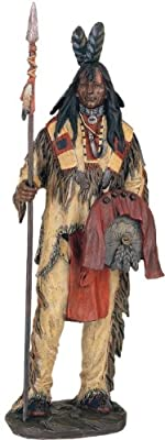 Native American Warrior Collectible Indian Decoration Figurine Statue by GSC