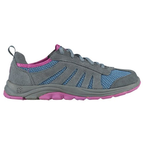 Jack Wolfskin Unisex - Child KIDS PALM SPRINGS Trekking & Hiking Shoes multi-coloured Mehrfarbig (smoke blue) Size: 40