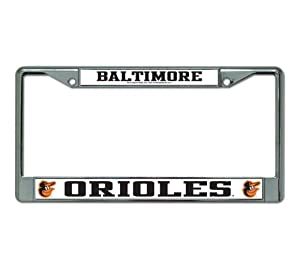 Baltimore Orioles O's Metal Chrome License Plate Tag Frame Cover Baseball