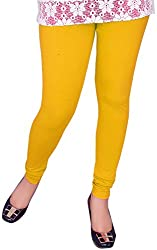 Unicraft Women's Cotton & Lycra Leggings (unicraft-010Yellow)