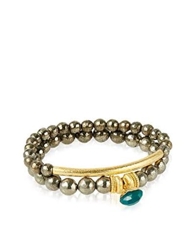 Devoted Pave Bracelet Set, Green