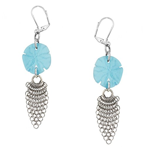 sand-dollar-mar-cristal-y-pendientes-de-malla-by-cape-cod-jewelry-ccj