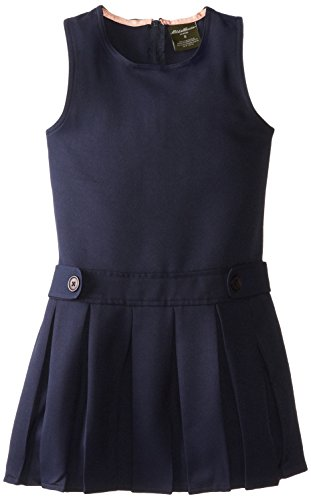 Eddie Bauer Big Girls Pleated Skirt Jumper, Navy,14