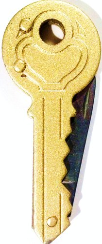 HFT Key Shaped Pocket Knife, 2'' Long