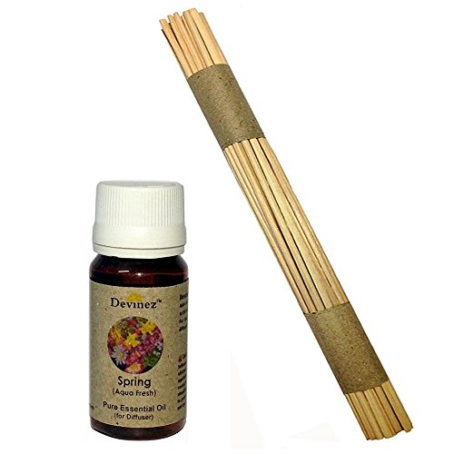 Devinez Premium Reed Sticks/ Refill Pack For Reed Diffusers 10 Inches (100 Sticks) With Free 15ml Spring, Aqua...