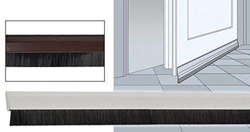 t rleiste wei oder braun selbstklebend 100x4 cm schwarze borsten zugluftstopper wei ean. Black Bedroom Furniture Sets. Home Design Ideas