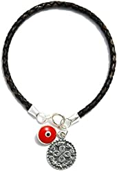 Braided Leather King Solomon Talisman Love Charm Bracelet for Men