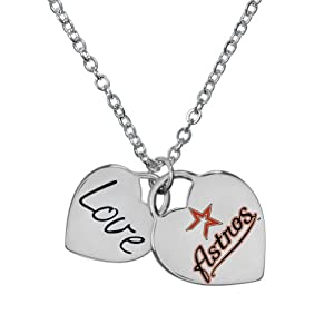 Game Time 101598 MLB Houston Astros Heart Necklace by Game Time