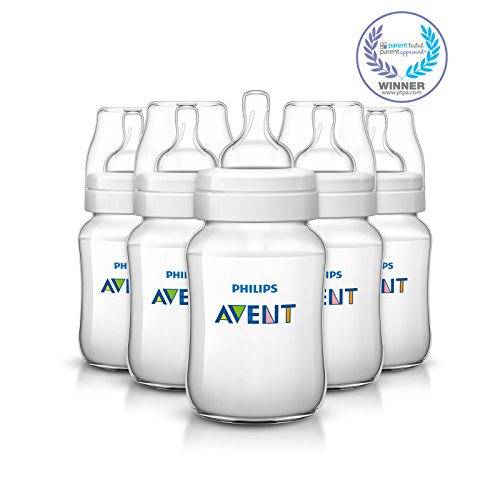 Philips AVENT Classic Plus BPA Free Polypropylene Bottles, 9 Ounce (Pack of 5)