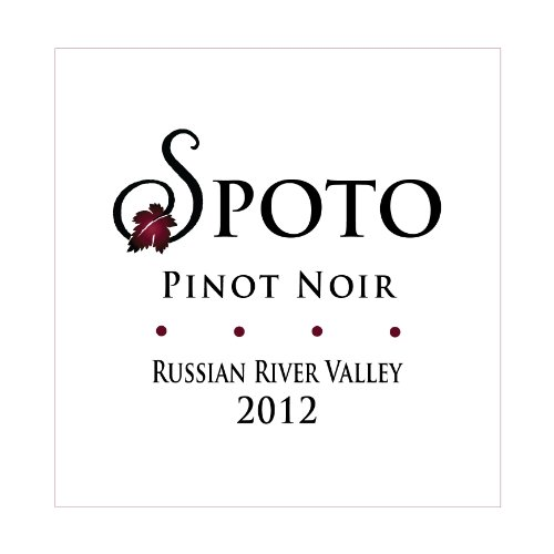 2012 Spoto Wine Napa Valley Pinot Noir 750 Ml