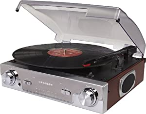 Crosley CR6005A-MA Tech Turntable with AM/FM Radio and Portable Audio Ready (Mahogany)
