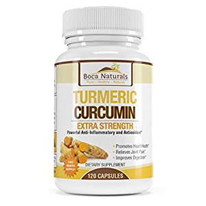 Pure Turmeric Curcumin - Extra Strength with 95% Curcuminoids - 100% Pure And Natural - By Boca Naturals