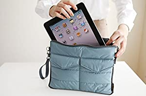 Packnbuy Gadget Pouch Multi Functional Storage Organizer Bag Zip & Cushion Protection for Ipad Tablet iphones Electronics Accessories Cosmetics - GREEN Color