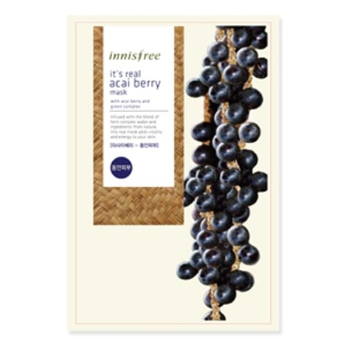 Innisfree It'S Real Nature Herb Acai Berry Facial Mask Sheet Anti-Aging Skin