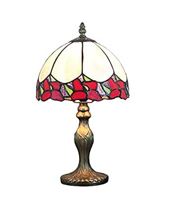 lampsbuyer stained glass small decorative bent table lamp. Black Bedroom Furniture Sets. Home Design Ideas