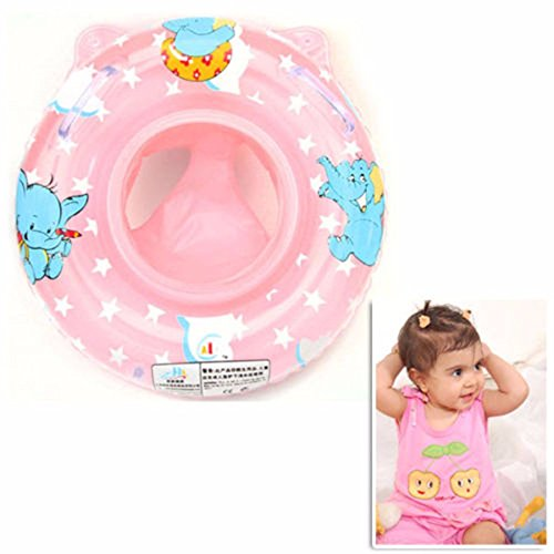 2016 Popular Cute Inflatable Baby Child Handle Safety Seat Float Ring Raft Chair Pool Swimming Toy ,funny in the bathtub Blue/Pink
