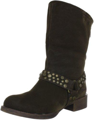 Blowfish Kenessa FURR Biker Bootie Ankle Boots Womens Brown Braun (dark brown fawn PU BF228) Size: 6.5 (40 EU)
