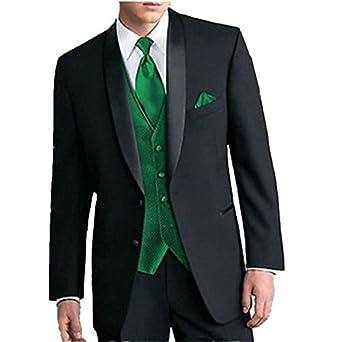 black suit dark green tie - photo #5
