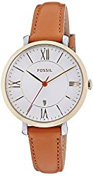 Fossil Women's ES3737 Jacqueline Gold-Tone Stainless Steel Watch with Leather Band