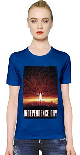 Independence Day Alien Attack T-shirt donna Women T-Shirt Girl Ladies Stylish Fashion Fit Custom Apparel By Slick Stuff XX-Large