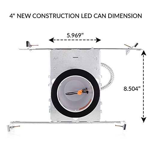 Sunco Lighting 4 Pack 4″ inch New Construction LED Can Air Tight IC Housing LED Recessed Lighting