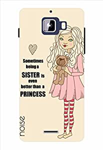 Noise Love Being Sister-Beige Printed Cover for Micromax Canvas Nitro A310
