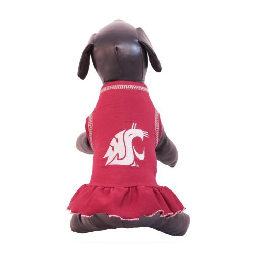 NCAA Washington State Cougars Cheerleader Dog Dress (Team Color, Large) at Amazon.com