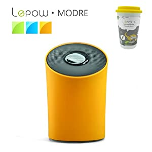Lepow® Modre Portable Wireless Bluetooth Speaker - Ultra Portable, Powerful Sound, Stylish and Colorful with Built in Microphone (Orange) by Lepow