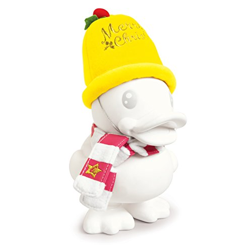 B.Duck Xmas Bell White Saving Bank, 16cm