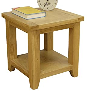 chelsea oak lamp table with shelf small table fully. Black Bedroom Furniture Sets. Home Design Ideas