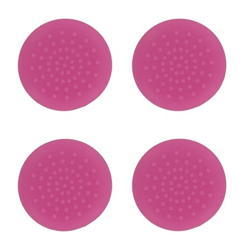 CrownTrade ® Sony Sony maitsuki John 4 PS4 controller replacement analog stick covers assisted TPU silicone rubber buttons switch grip Cap (Pink)