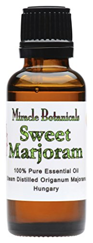 Miracle Botanicals Sweet Marjoram Essential Oil - 100% Pure Origanum Majorana - Therapeutic Grade - 30ml