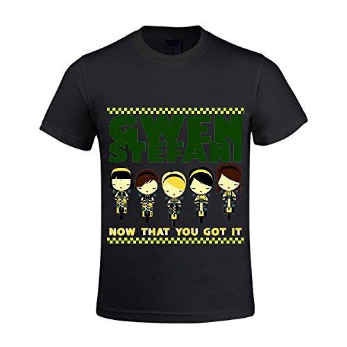 Gwen Stefani Now That You Got It Single Men T Shirts Round Neck Graphic Black