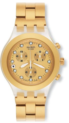 Swatch Unisex Full Blooded Gold Chronograph Watch