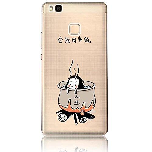 Vandot Transparent TPU Silicone Étui Housse Protecteur Coque pour Huawei P9 Lite Smartphone Case Cover Colour Art Motif Hull