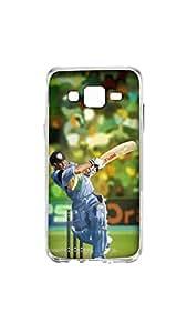 Sachin Tendulkar Painting Designer Mobile Case/Cover For Samsung Galaxy J5 2D Transparent