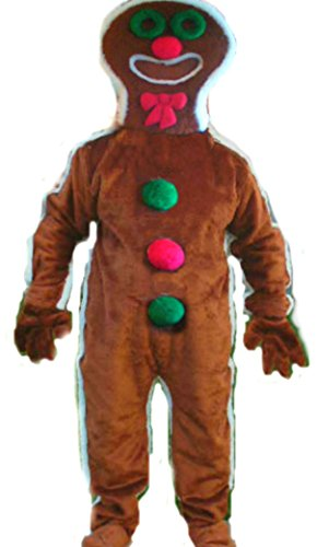 Mascots USA by CJs Huggables Custom Pro Low Cost Gingerbread Boy Mascot Costume
