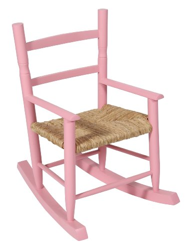 Aimbry Habasco Childrens Rocking Chair Pink Wood Kid's Chair