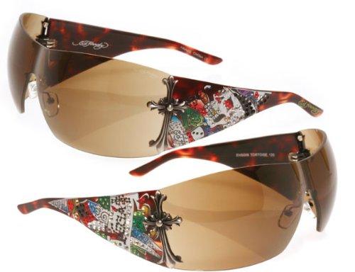 Ed Hardy Ehs 008 08 Brad Vintage Sunglass Sunglasses Tortoise