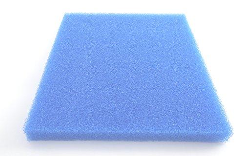 Mousse filtrante pPI moyen 20/bleu 1 x 1 m x 3 cm - 100 x 100 x 3 cm filtermatte filtre mousse filtrante pour bassin koi crevettes reproduction découper soi-même