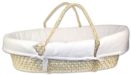 Why Choose Trend Lab Moses Basket Set, Pique Natural