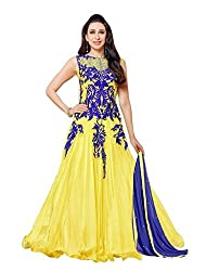 Aarsh Apparel Yellow Net Embroidery Anarkali Suit