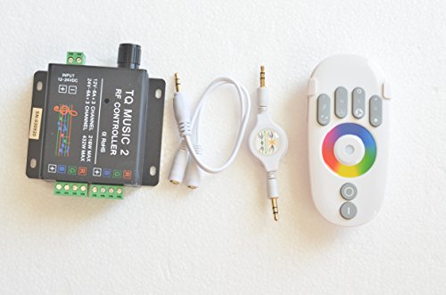 Rf Rgb Music Controller Sonic Sensitivity & Led Backlight Remote - Wireless Rgb Music Controller Car Rgb Led Angel Eyes, Strips, Underbody Lights