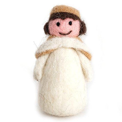 UNIQOOO Handmade Needle Felted Christmas Angel Little Fairy Wool Felt Miniature Christmas Tree Decoration Gift - 1