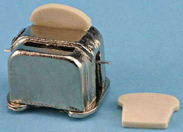 Dollhouse 1:12 2 Slice Toaster - 1